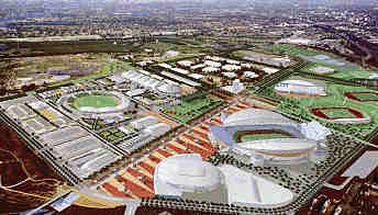 Olympics And Showgrounds Are Rising Rapidly In Sydney Revealing A Juxtaposition Of Two Contrasting Planning Patterns At The Homebush Site