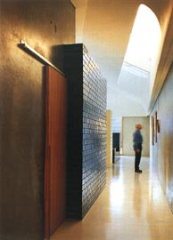 Looking along the east passage, with a tearshaped