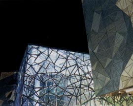 Federation Square by Lab architecture studio in association with Bates Smart. Image: cbdphoto.com.