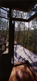Looking over the layered deck into the landscape.