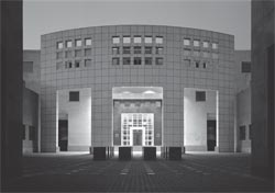 The embassy on its completion in 1992. The