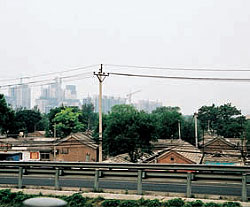 Beijing's changing skyline. Photographs Paul Hogben.