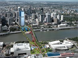 Victoria Bridge Demonstration Area, from the Draft Brisbane City Centre Masterplan.