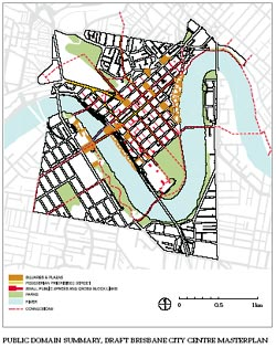 Public domain summary, Draft Brisbane City Centre Masterplan.