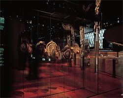 The objects on display at the museum float at eye level within cleverly hidden glass display cases. Image: Philippe Ruault
