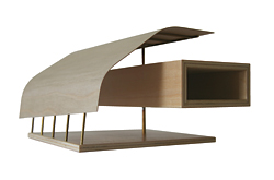 Beach House by Wright Feldhusen Architects. Model by Colin Wright.