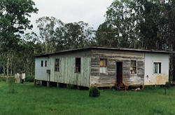 Three-bedroom self-constructed house, built c.1969 at Wondecla, Herberton, by Peter Freeman. It is the residence of Lillian Freeman, maternal aunty of the author.